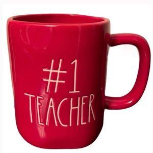 Rae Dunn Red #1 Teacher Coffee mug